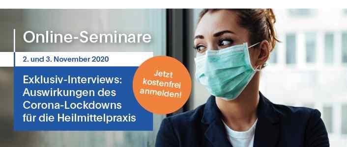 Veranstaltungen: Exklusiv-Interviews: Auswirkungen des Corona-Lockdowns für die Heilmittelpraxis